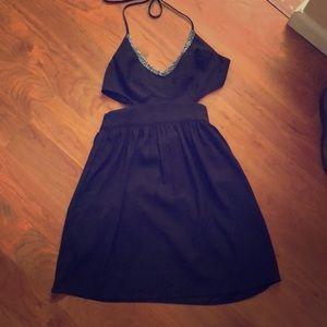 Never worn black cut out cocktail dress